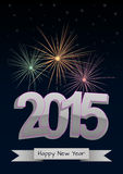 2015 fireworks Stock Photos