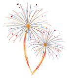 Fireworks vector Royalty Free Stock Images
