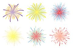 Fireworks vector Stock Photos