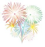 Fireworks vector. Fireworks illustration for new year festival stock illustration