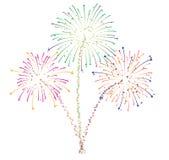 Fireworks vector. Fireworks illustration for new year festival Stock Photos
