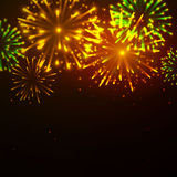Fireworks. Illustration of a yellow Fireworks Royalty Free Stock Photo