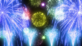 Fireworks image. Image of fireworks, such as appearing in the anime Royalty Free Stock Photo