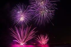 Fireworks In Forte Dei Marmi Stock Images