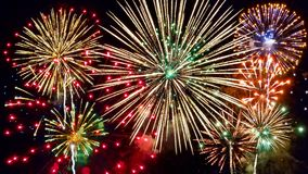 Free Fireworks In Night Sky Stock Images - 120529404