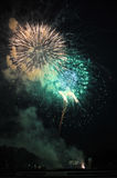 Fireworks on Independence Day Stock Image