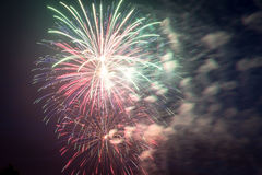 Fireworks on Independence day in USA Royalty Free Stock Image