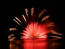 Fireworks. International fireworks competentions Ignis Brunensis in Brno in Czech Republic Royalty Free Stock Images