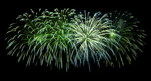 Fireworks isolated on black background Royalty Free Stock Photography