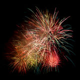 Fireworks isolated on a dark background. Colorful fireworks isolated on a dark background Stock Photography