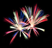 Fireworks Isolated Royalty Free Stock Photos