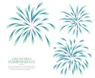 Fireworks isolated white background blank. Couponents Royalty Free Stock Photo