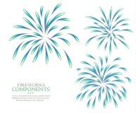 Fireworks isolated white background blank Royalty Free Stock Photo