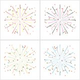 Fireworks. Isolated on white. vector set. eps10 Royalty Free Stock Image