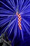 Fireworks at Iwo Jima Memorial. On the Fourth of July Royalty Free Stock Image