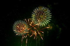 Fireworks in Japan  Royalty Free Stock Images