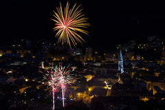 Fireworks July 14 in France. Beautiful Fireworks July 14 in France Stock Images