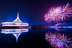Fireworks at King Rama IX park Royalty Free Stock Image