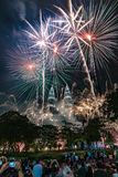 Fireworks KLCC Malaysia Kuala Lumpur NewYear Countcown Royalty Free Stock Photography