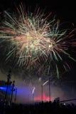 Fireworks at La Merce. Festival, Barcelona, Spain Stock Photos