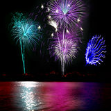 Fireworks and Lake Stock Images