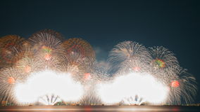Fireworks in lake Biwa, Otsu, Shiga, Japan Royalty Free Stock Images