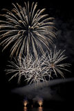 Fireworks at the lake Royalty Free Stock Photo
