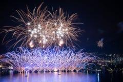 Fireworks on Lake Garda, in Riva del Garda Italy.