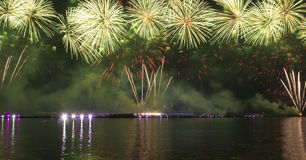 Fireworks and laser show Royalty Free Stock Photos