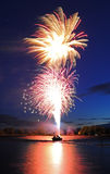 Fireworks Launching from Boat Stock Photos