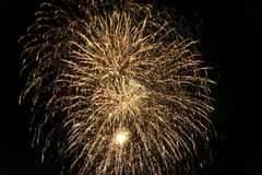 Fireworks at Lecco & x28;Italy& x29; Stock Photos