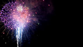 Fireworks LEFT stock video footage