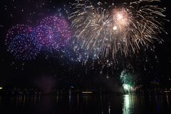 Fireworks. Life is like fireworks, although short, but also brilliant Royalty Free Stock Image