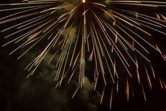 Fireworks. And light effects in the night sky Stock Photos