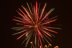 Fireworks. And light effects in the night sky Royalty Free Stock Photography