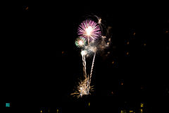 Fireworks light up the sky Royalty Free Stock Image