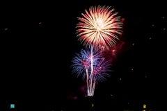 Fireworks light up the sky Stock Photography