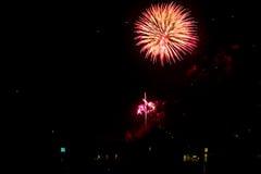 Fireworks light up the sky Stock Image