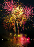 Fireworks light up the sky with dazzling display Stock Images