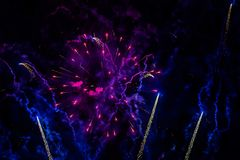 Fireworks light up the sky with dazzling display royalty free stock photography