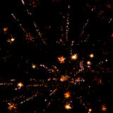 Fireworks light up the sky with dazzling display Stock Image