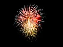 Fireworks light up in the sky, dazzling scene. Stock Image