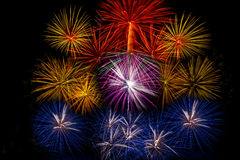 Fireworks light up the sky,Five Fireworks Stock Photos
