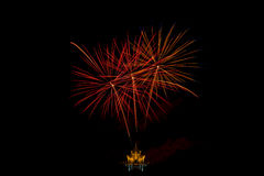 Fireworks light up the sky,Five Fireworks Royalty Free Stock Images
