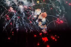 Fireworks light up the sky with dazzling display royalty free stock image