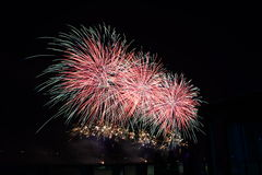 Fireworks. Light up the sky new year event, Thailand Royalty Free Stock Photography
