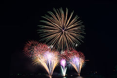 Fireworks. Light up the sky new year event, Thailand Stock Photo