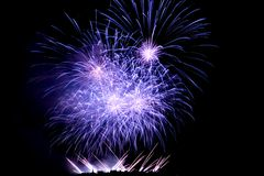 Fireworks Lighting up the Sky Royalty Free Stock Photography