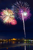 Fireworks in Limerick city, Ireland Stock Photo