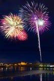 Fireworks in Limerick city, Ireland Stock Photo
